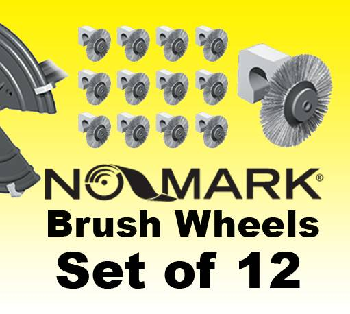 'NO-MARK' BRUSH WHEELS Set of 12, Fully Adjustable