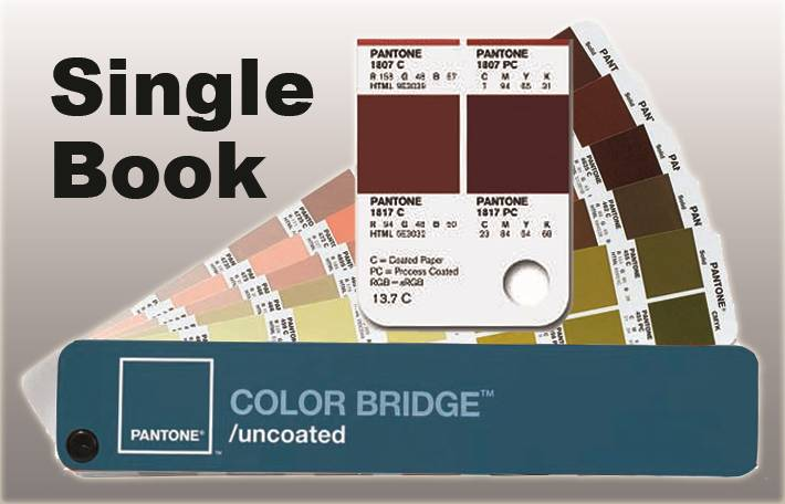 PANTONE COLOR BRIDGE Single Book, UNCOATED Stock with supplement