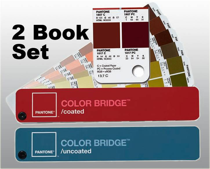 PANTONE COLOR BRIDGE 2 Book Set, COATED/UNCOATED