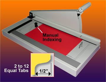 TAB CUTTER - MANUAL 2 to 12 Equal Tabs