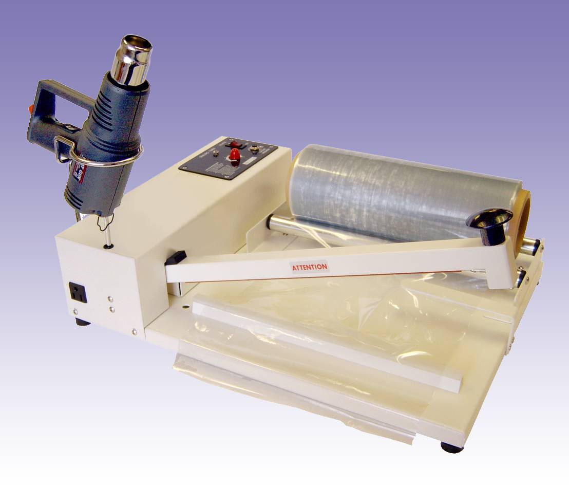 "I-BAR SHRINK FILM SYSTEM 26"" With Heat Gun & Centerfold 24"" SR5724 shrink film"