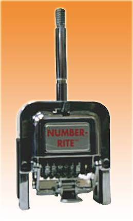 "NUMBER-RITE HEAD (GOTHIC) 6-Digit 3/16"" Letter Height"