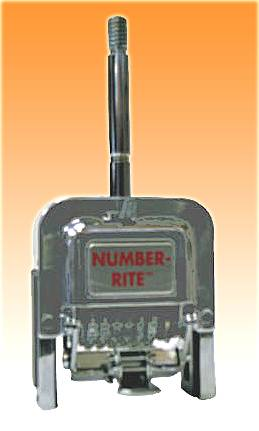 "NUMBER-RITE HEAD (ROMAN) 6-Digit 3/16"" Letter Height"