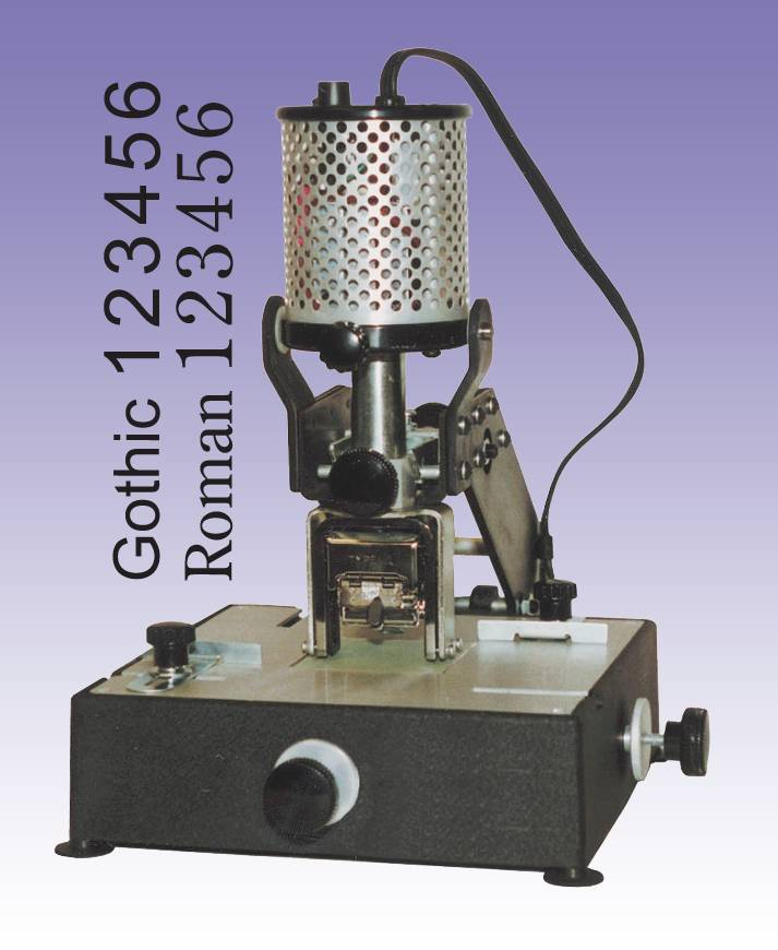 NUMBER-RITE NUMBERING MACHINE with GOTHIC head By Lassco Wizer